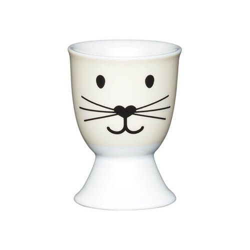 KitchenCraft Cat Face Porcelain Egg Cup