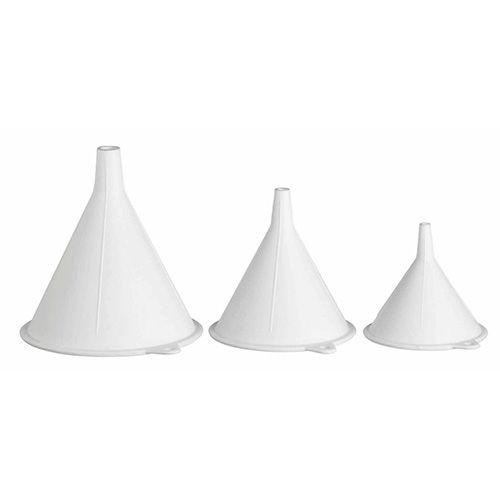 KitchenCraft Polypropylene Food Safe Funnels, Set of Three