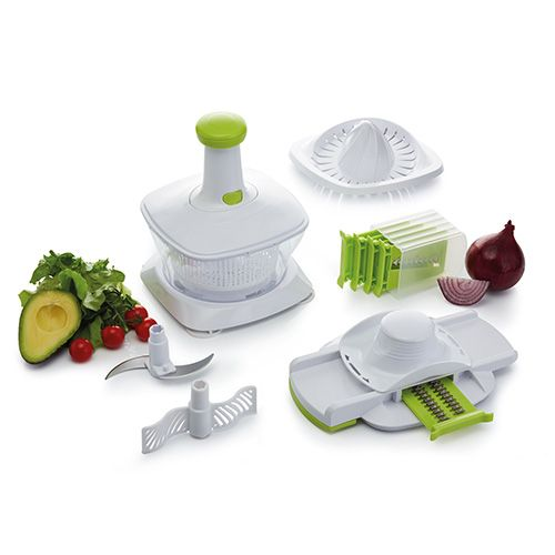 KitchenCraft Healthy Eating Five in One Manual Food Processor