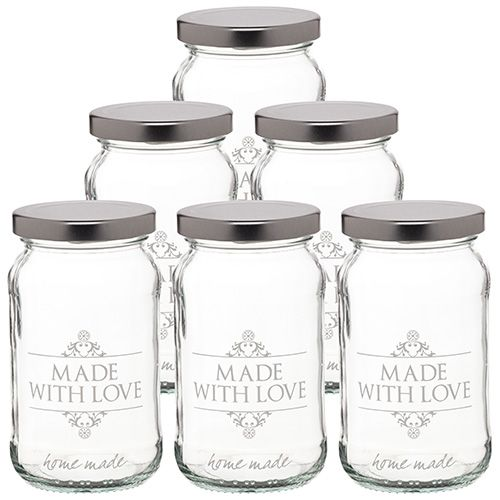 Home Made Made With Love  Set Of 6 Jars