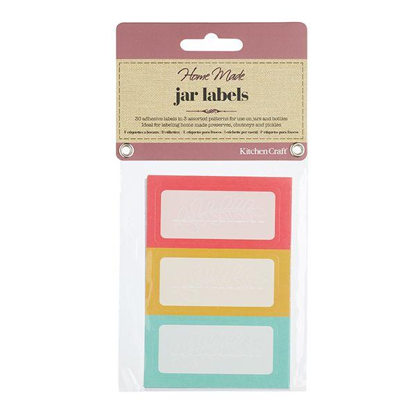 Home Made Pack of 30 Brights Self Adhesive Jar Labels
