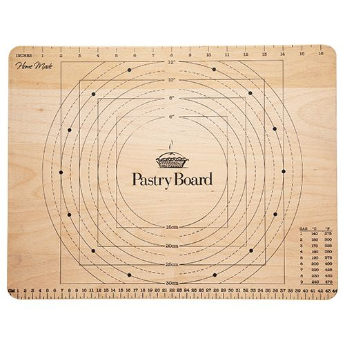 KitchenCraft Wooden Pastry Board with Measures