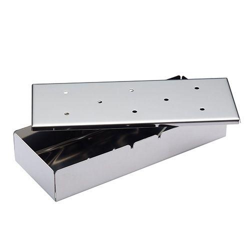 KitchenCraft Stainless Steel 22cm Wood Chip Smoker Box