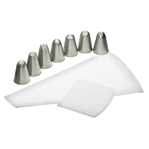 Sweetly Does It Icing Set With Bag, Seven Nozzles and Icing Comb