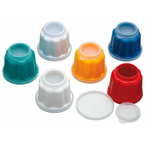 KitchenCraft Individual Plastic Jelly Moulds, Pack of Six