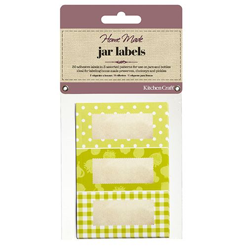 Home Made Pack Of Thirty Self-Adhesive Jam Jar Labels - Garden Green