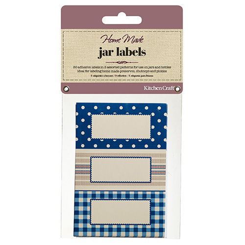 Home Made Thirty Self-Adhesive Jam Jar Labels - Stitched Stripes