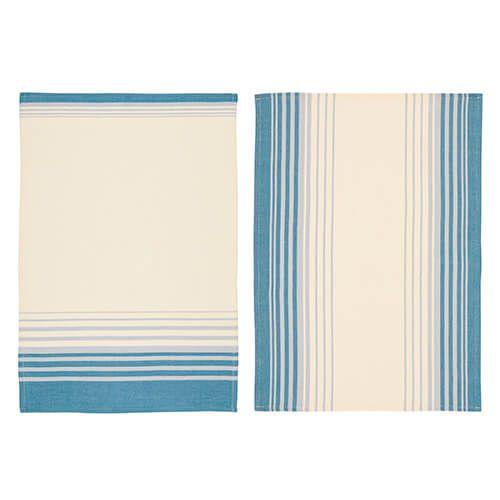 KitchenCraft Jacquard Stripe Tea Towels 2 Piece Set