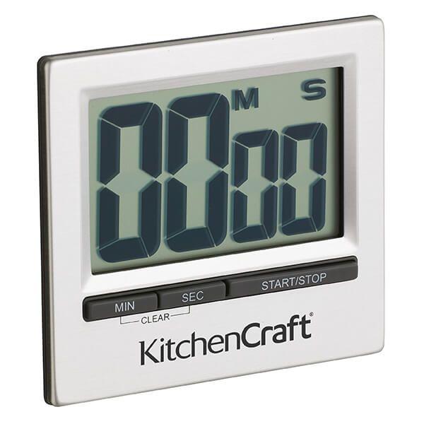 KitchenCraft Large Easy Read Chromed Timer
