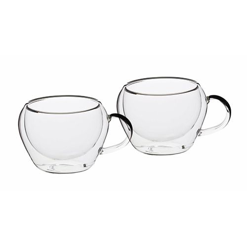 Le Xpress Double Walled Set of 2 Glass Espresso Cups