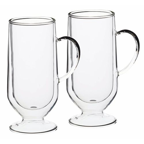 Le Xpress Double Walled Set of 2 Latte Glasses