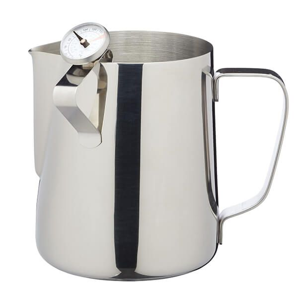 Le Xpress Stainless Steel Milk 600ml Frother Jug with Thermometer