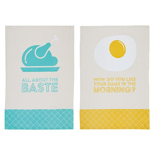 KitchenCraft Lyrics Tea Towels 2 Piece Set