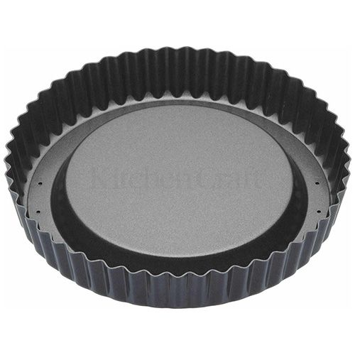 Master Class Non-Stick Raised Loose Base Fluted Flan Tin 20cm
