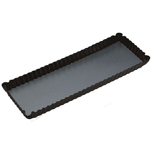 Master Class Non-Stick Fluted Rectangular Flan / Quiche Tin, 36 x 13 x 2.5cm