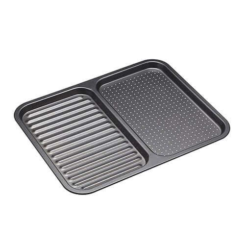 MasterClass Divided Ridged Baking Tray 39cm x 31cm