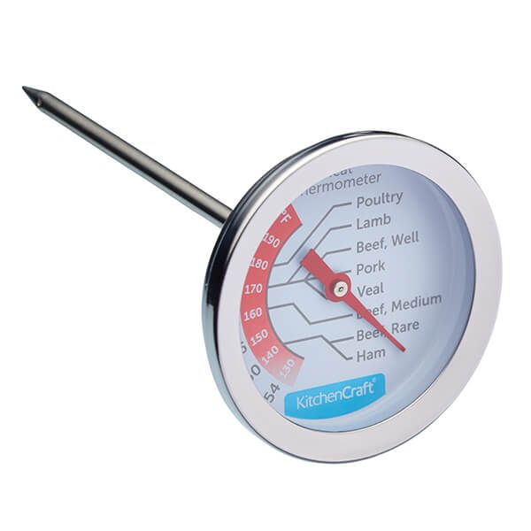 KitchenCraft Stainless Steel Meat Thermometer 5cm