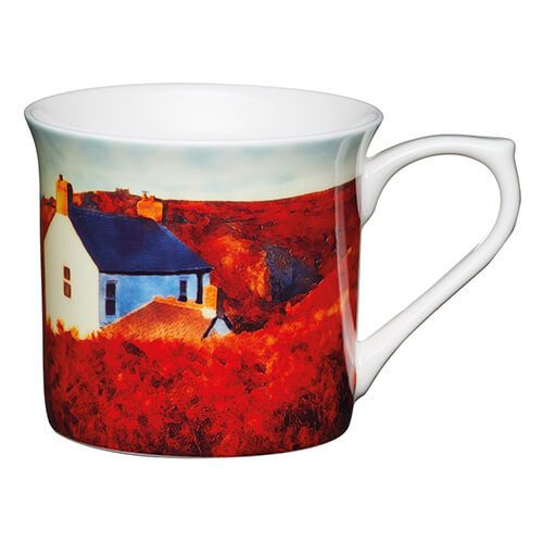 KitchenCraft China 300ml Fluted Mug, Landscape