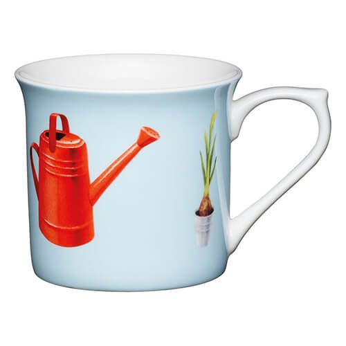 KitchenCraft China 300ml Fluted Mug, Watering Can
