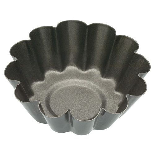 KitchenCraft Set of Four Non-Stick Mini Fluted Tart Tins