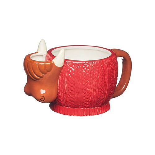 KitchenCraft Highland Cow Mug with Tea Bag Holder