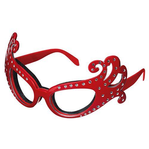 Kitsch'n'fun Dame Edna Onion Glasses Red