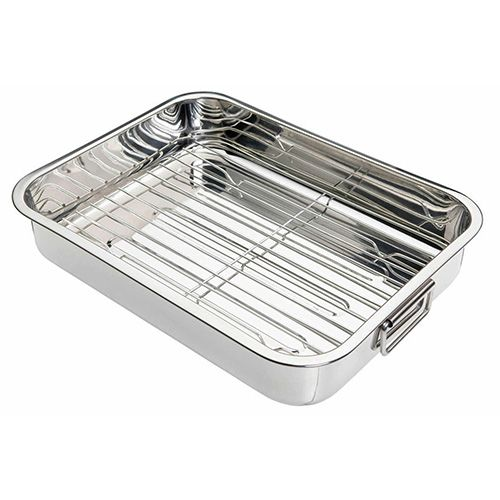 KitchenCraft Stainless Steel 37cm Roasting Pan
