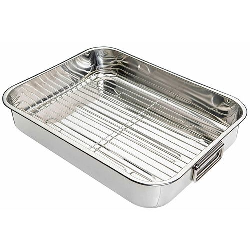 KitchenCraft Stainless Steel 43cm Roasting Pan