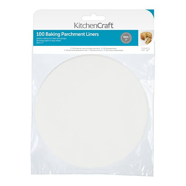 KitchenCraft Round 18cm Siliconised Baking Papers