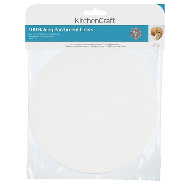 KitchenCraft Round 20cm Siliconised Baking Papers