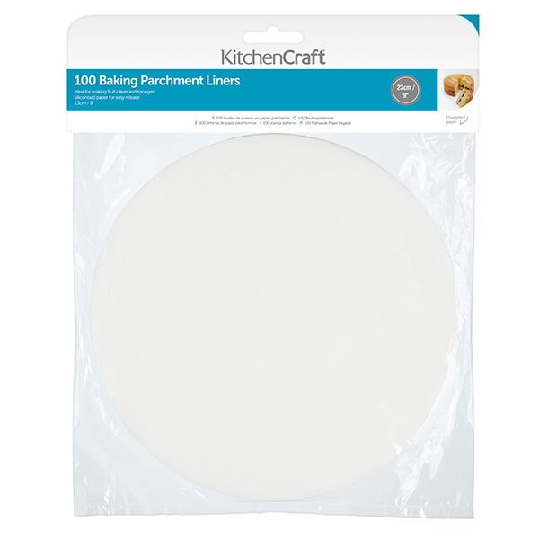 KitchenCraft Round 23cm Siliconised Baking Papers