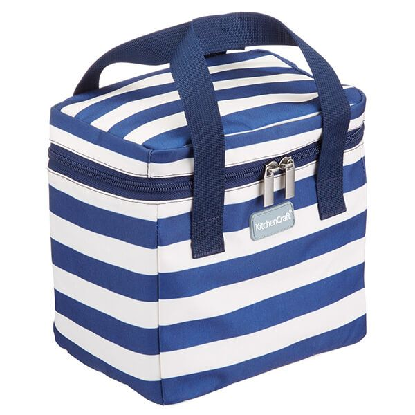 KitchenCraft 5 Litre Tall Lulworth Nautical Stripe Lunch And Snack Cool Bag