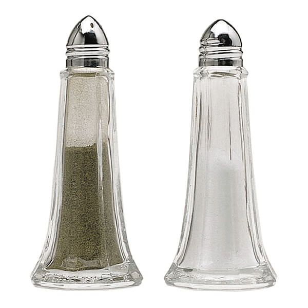 KitchenCraft Set of Two Glass Salt and Pepper Shakers