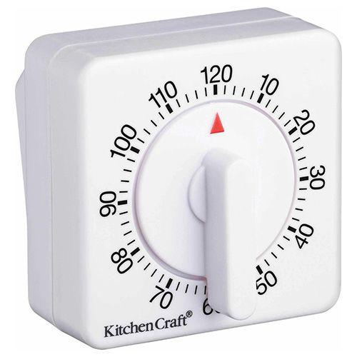 KitchenCraft Deluxe Half Round Wind-Up 120 Minute Timer