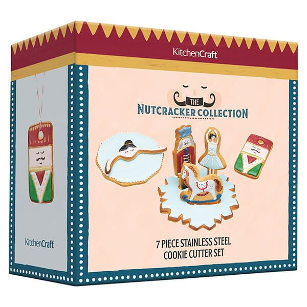KitchenCraft The Nutcracker Collection Gift Boxed Set of 7 Cookie Cutters