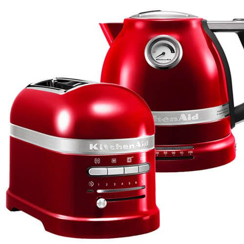 KitchenAid Artisan Candy Apple 2 Slot Toaster and Kettle Set