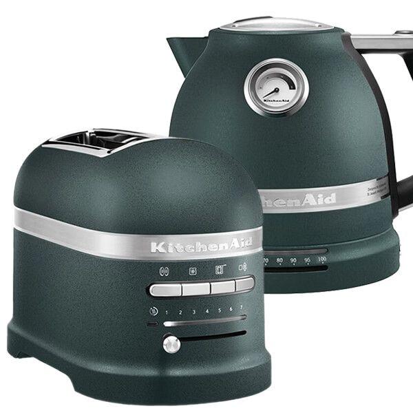 KitchenAid Artisan Pebbled Palm 2 Slot Toaster and Kettle Set
