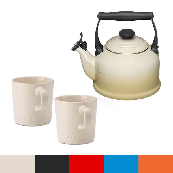 Le Creuset Almond Traditional Kettle and Mug Set