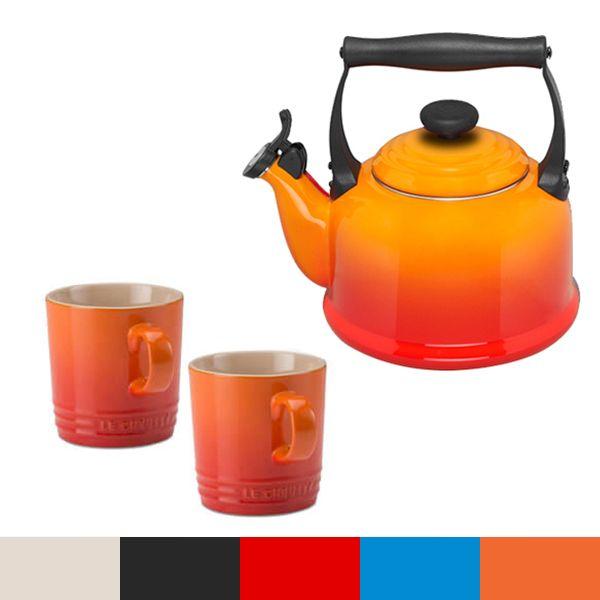 Le Creuset Volcanic Traditional Kettle and Mug Set