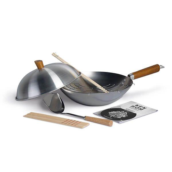 Ken Hom Classic 31cm Carbon Steel 10 Piece Wok Set