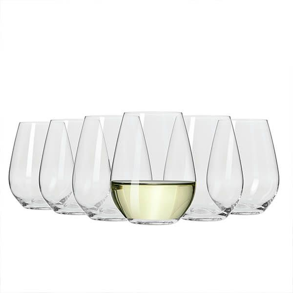 Maxwell & Williams Vino Set Of 6 400Ml Stemless White Wine Glasses Gift Boxed