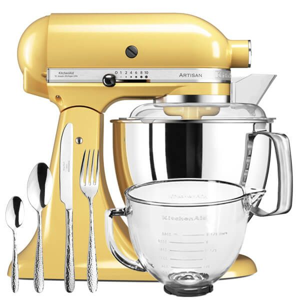 KitchenAid Artisan Mixer 175 Majestic Yellow With FREE Gifts