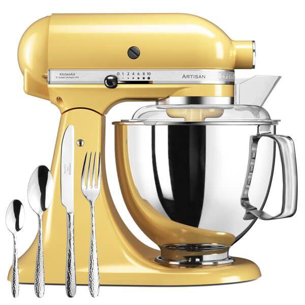 KitchenAid Artisan Mixer 175 Majestic Yellow With FREE Gift