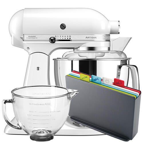 Kitchenaid Artisan 175 White Food Mixer With Free Gifts