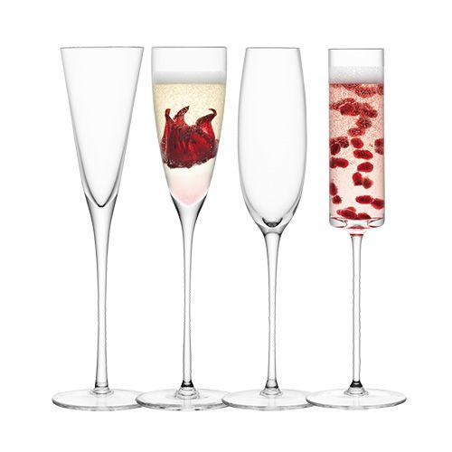 LSA LULU Champagne Flute Set Of Four
