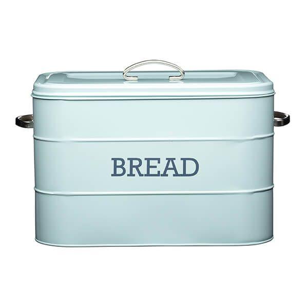 Living Nostalgia Vintage Blue Bread Bin