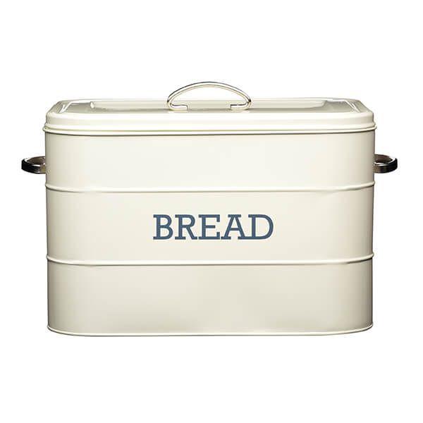 Living Nostalgia Antique Cream Bread Bin