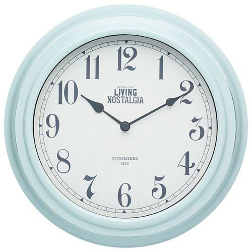 Living Nostalgia Vintage Blue Indoor Wall Clock
