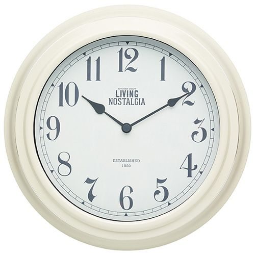 Living Nostalgia Antique Cream Indoor Wall Clock