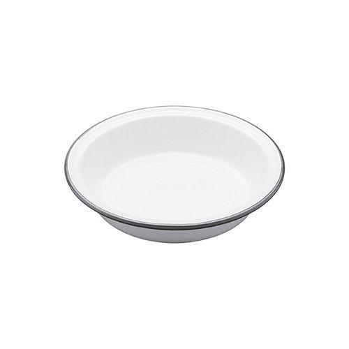 Living Nostalgia Enamel 18cm Round Pie Dish